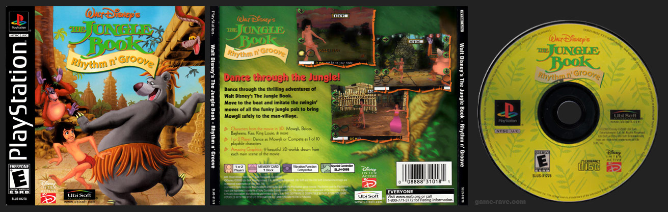 PSX PlayStation Disney's The Jungle Book - Rhythm n' Groove Stand-Alone Retail Release