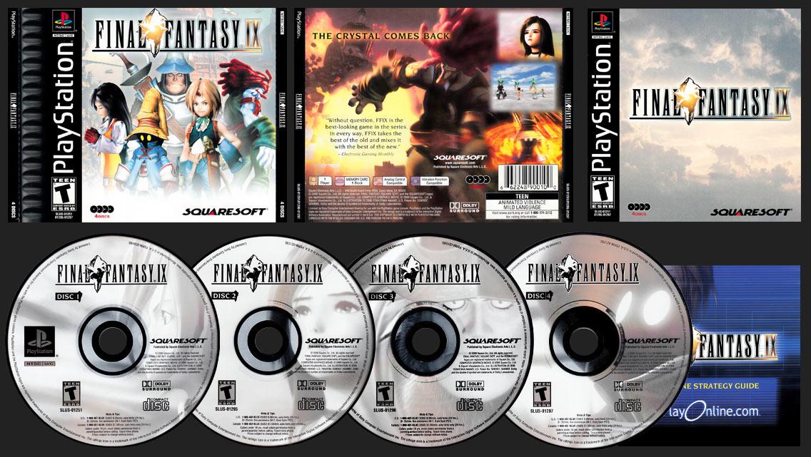 PSX PlayStation Final Fantasy IX Black Label Release