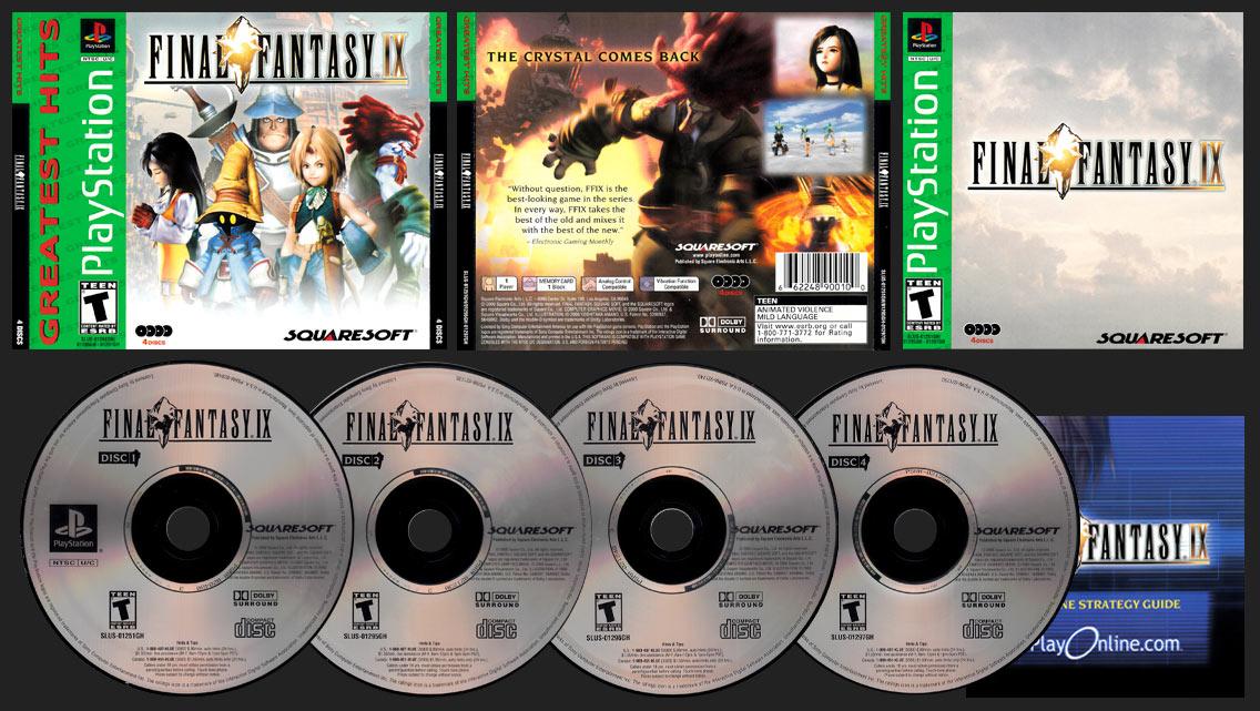 PSX PlayStation Final Fantasy IX Squaresoft Greatest Hits