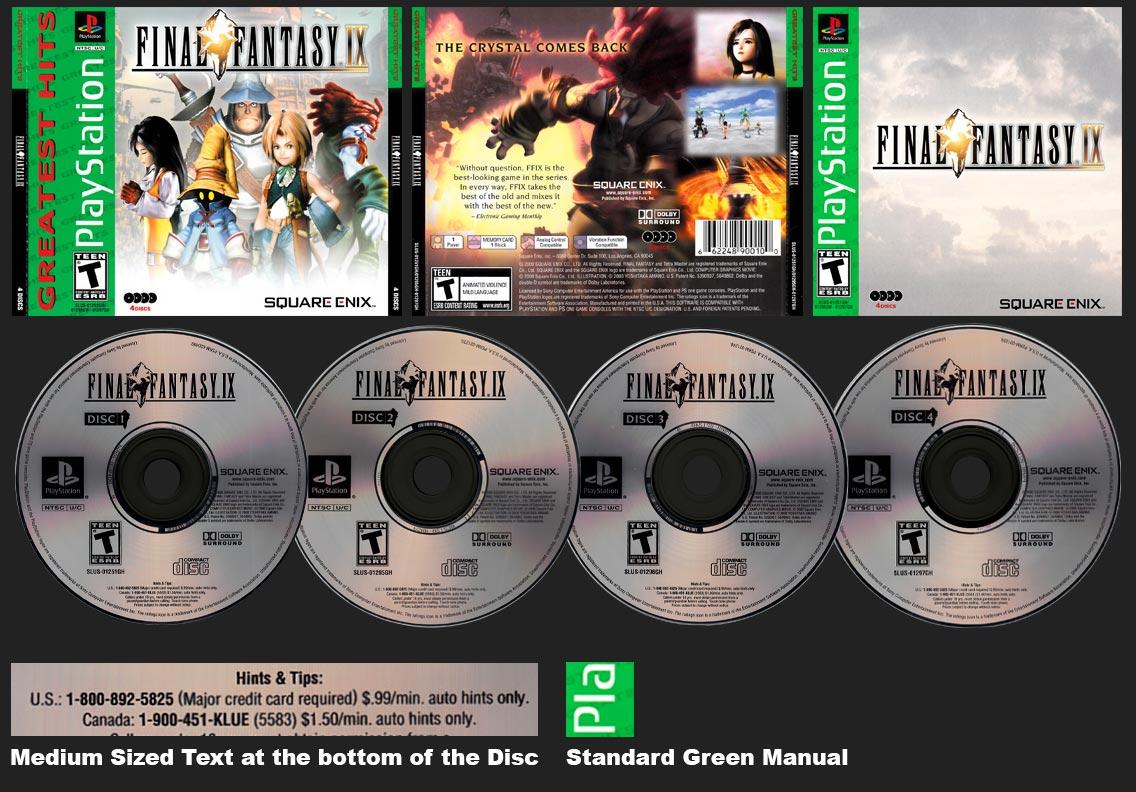 PSX PlayStation Final Fantasy IX Greatest Hits Square-Enix Store Version 2