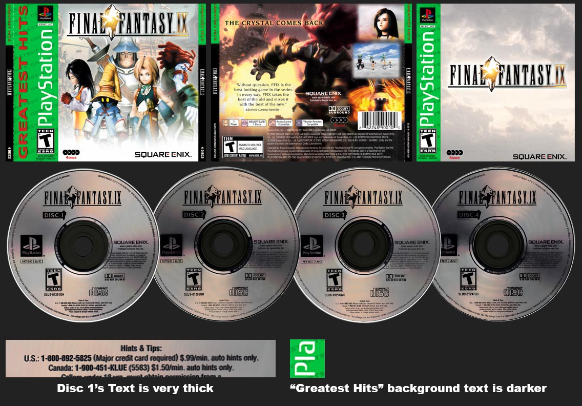 PSX PlayStation Greatest Hits Square-Enix Store Silver Bottom Version 3