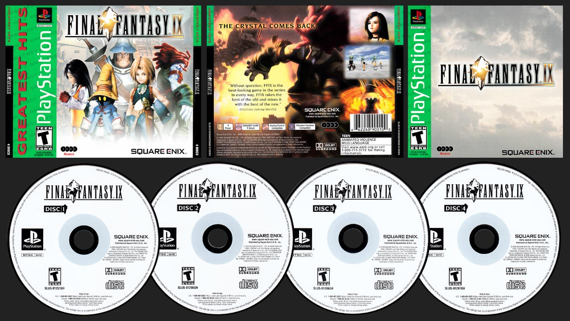 PSX PlayStation Final Fantasy IX Square-Enix USA Greatest Hits 1st Release