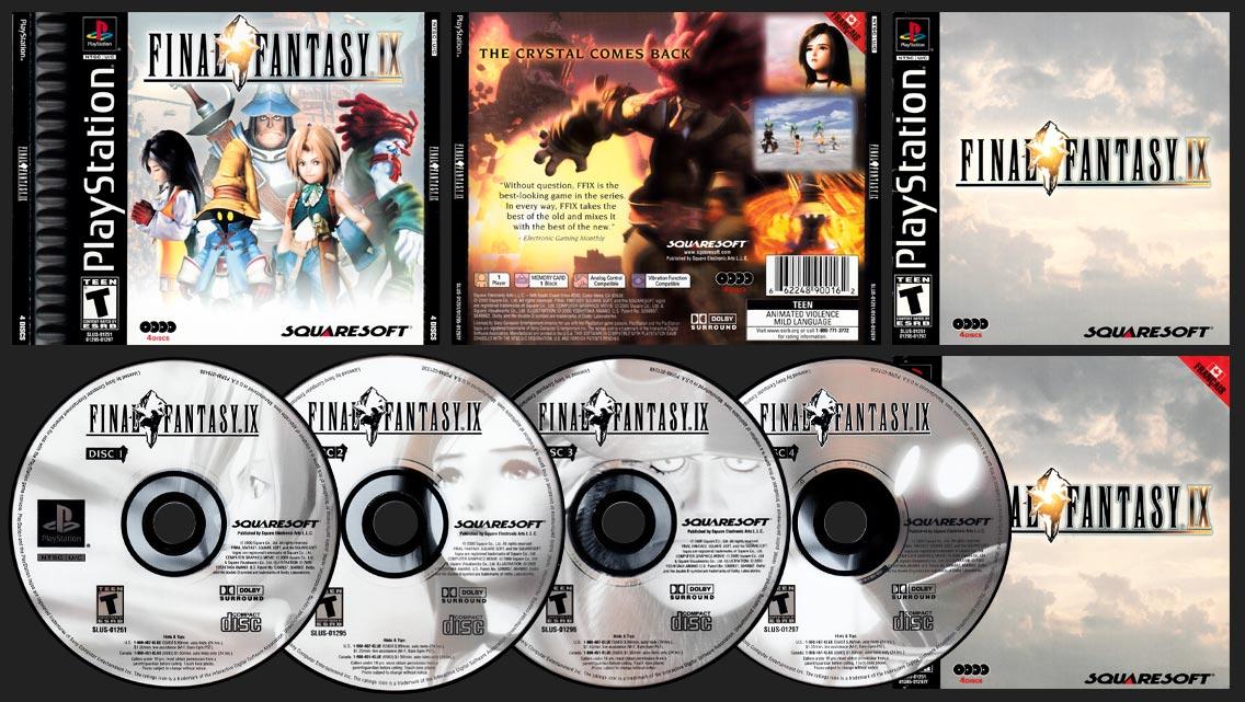 PSX PlayStation Final Fantasy IX Canadian Black Label Release