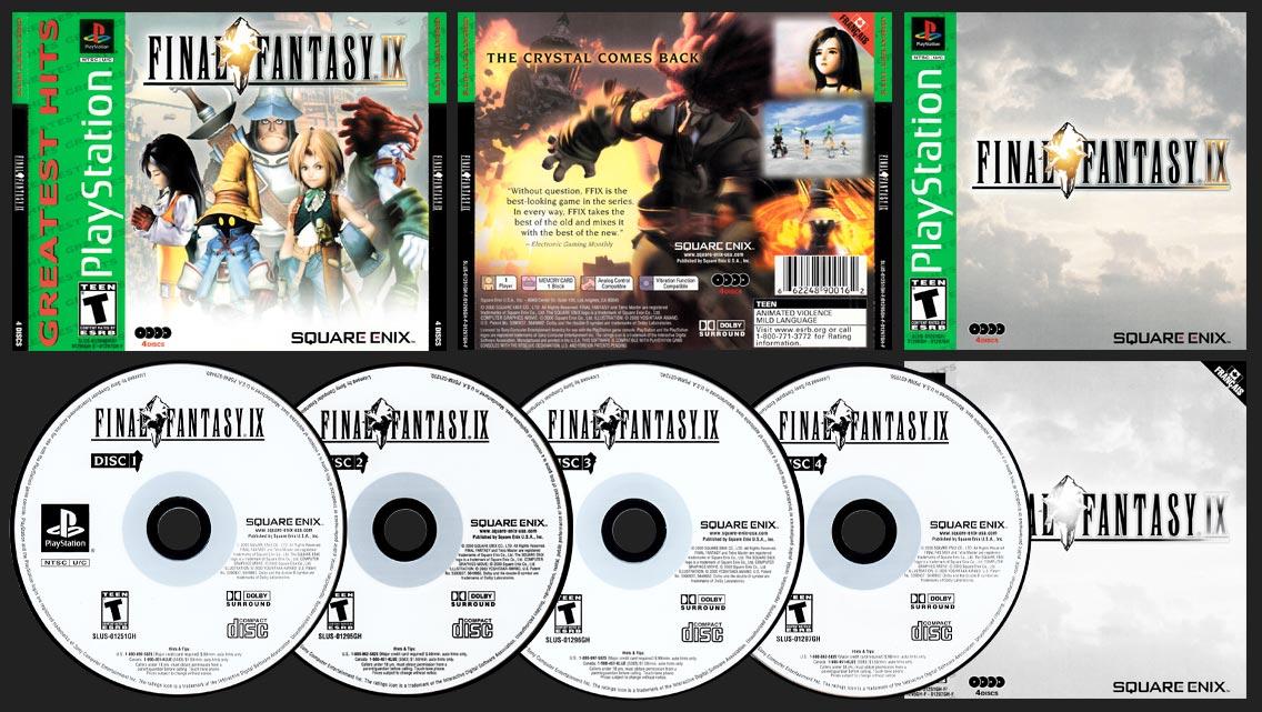 PSX PlayStation Final Fantasy IX Canadian Greatest Hits Square-Enix