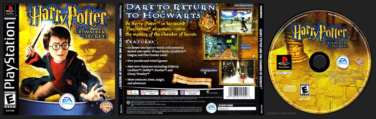 PSX PlayStation Harry Potter and the Chamber of Secrets Retail Release