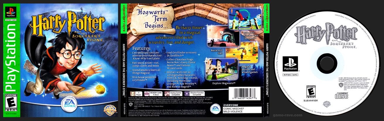 PSX PlayStation Harry Potter and the Sorcerer's Stone Greatest Hits Release