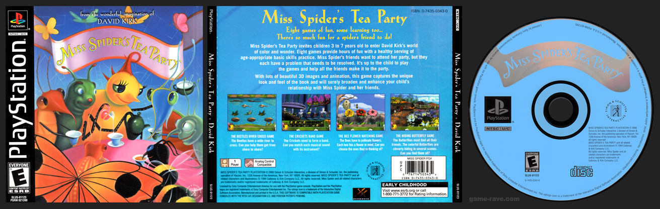 PSX PlayStation Miss Spider's Tea Party