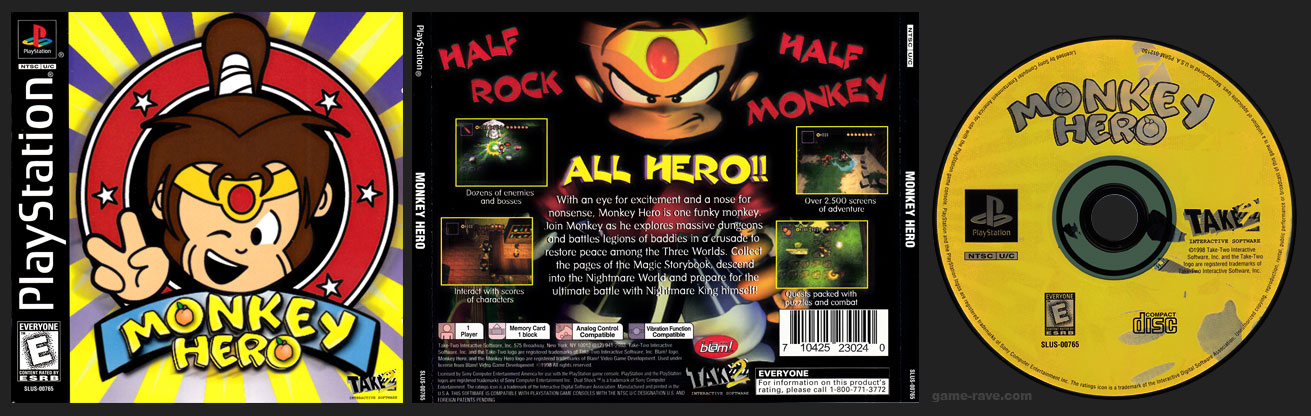 PSX PlayStation Monkey Hero Retail Release