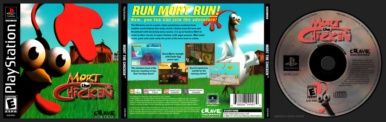 PSX PlayStation Mort the Chicken