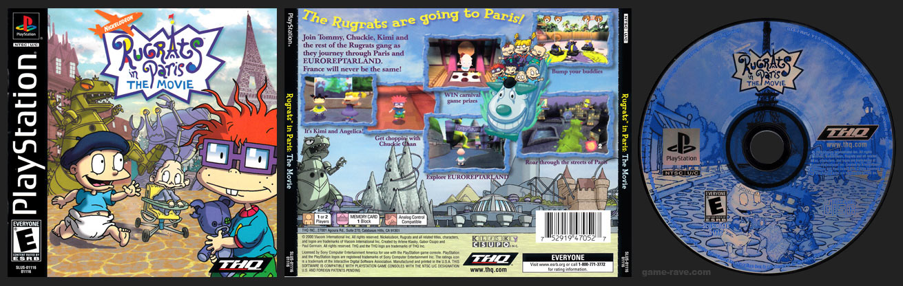 PSX PlayStation Rugrats in Paris: The Movie Black Label Retail Release