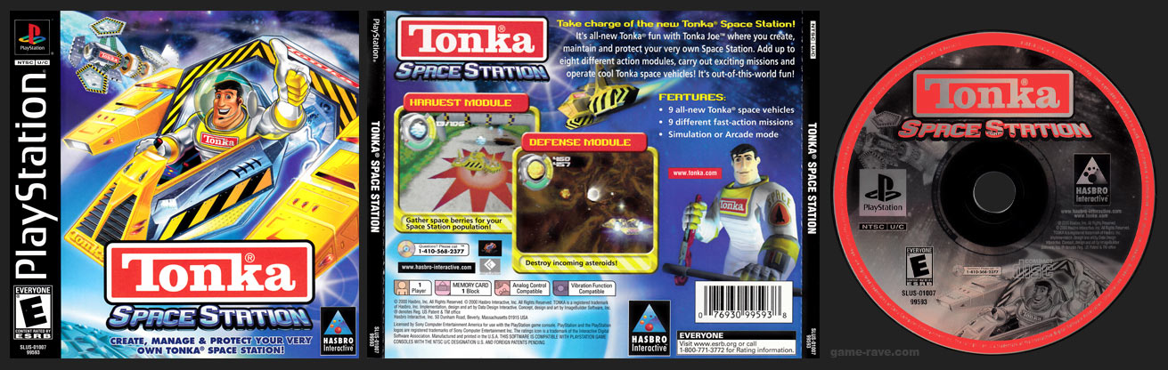 PSX PlayStation Tonka Space Station