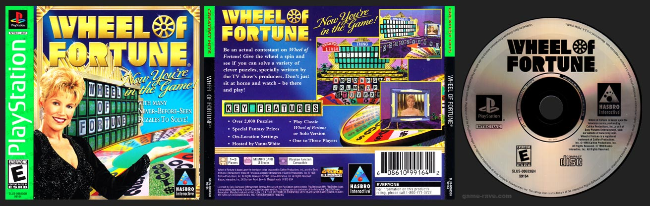 PSX PlayStation Wheel of Fortune Greatest Hits