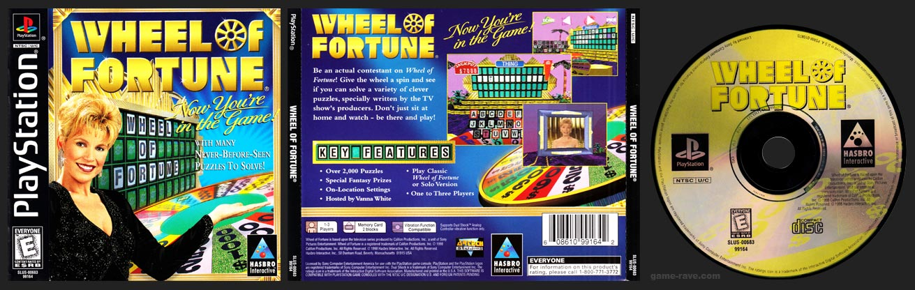 PSX PlayStation Wheel of Fortune Retail Release