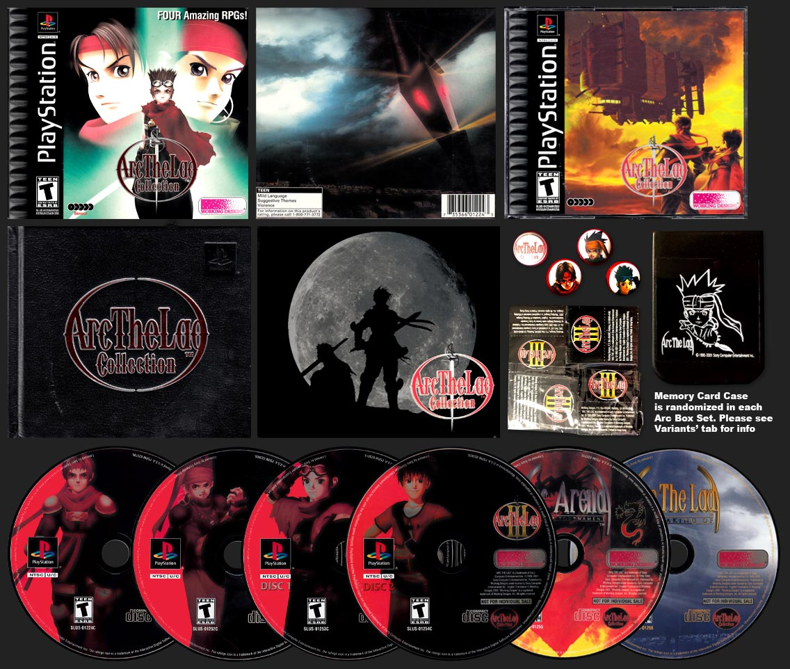 PSX PlayStation Arc The Lad Collection Variant C Set