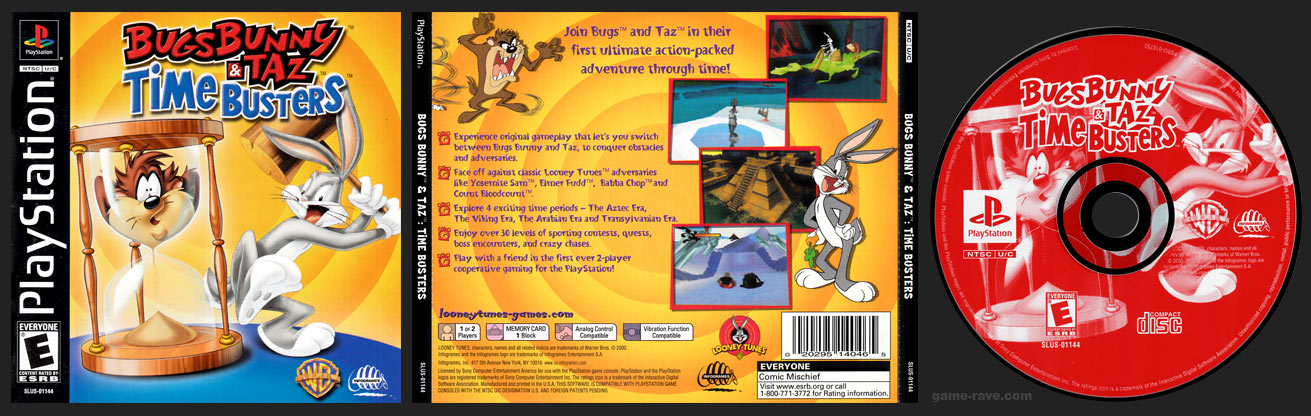 PSX PlayStation Bugs Bunny & Taz: Time Busters Black Label Retail Release