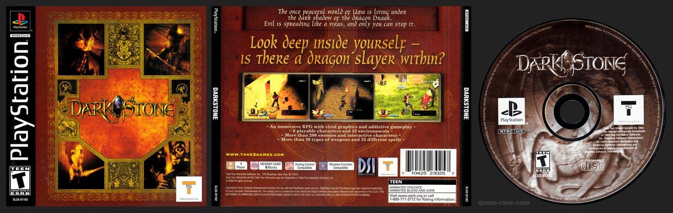 PSX PlayStation Darkstone Black Label Retail Release