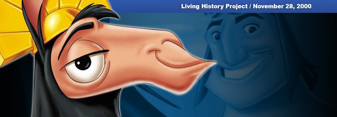 November 28, 2000 New Release: Disney's The Emperor's New Groove