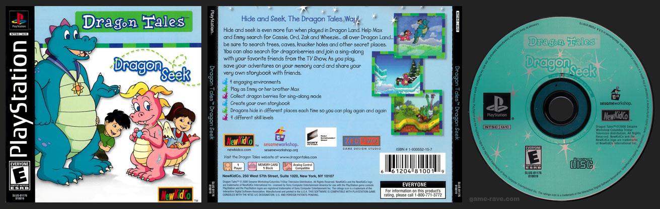PSX PlayStation Dragon Tales Dragon Seek Black Label Jewel Retail Release