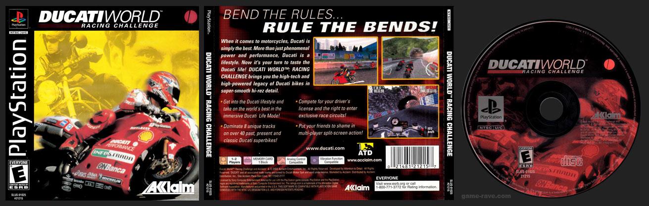 PSX PlayStation Ducati World Racing Challenge