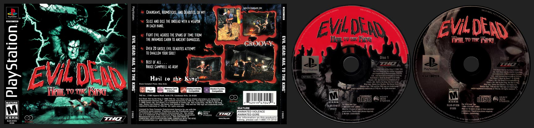 PSX PlayStation Evil Dead: Hail to the King Black Label Retail Release