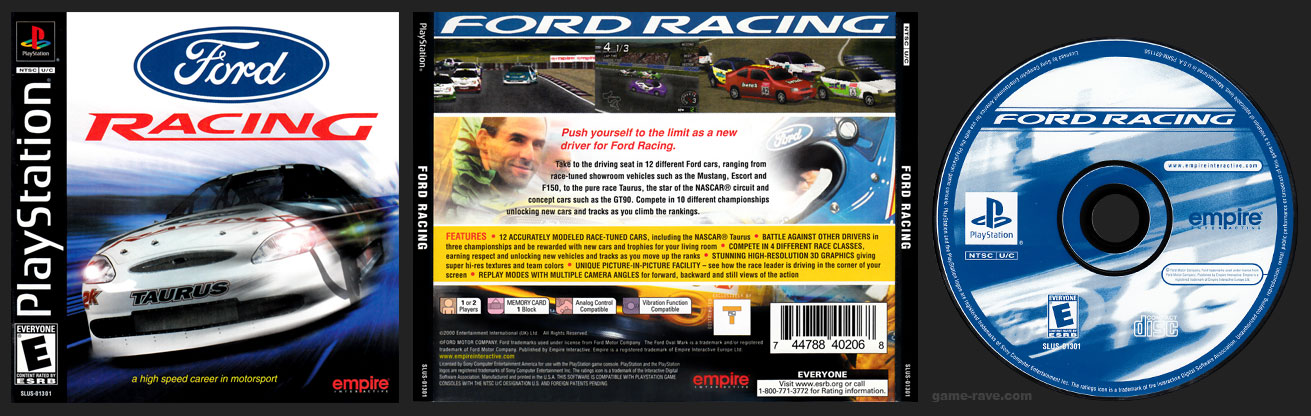 PSX PlayStation Ford Racing