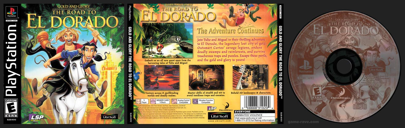 PSX PlayStation Gold and Glory: The Road to El Dorado Black Label Retail Release