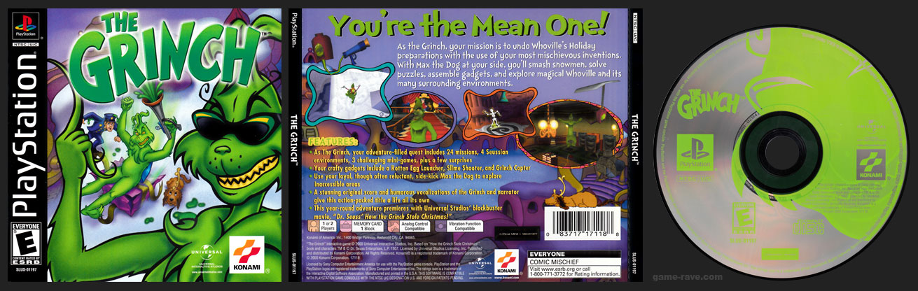 PSX PlayStation The Grinch Retail Release