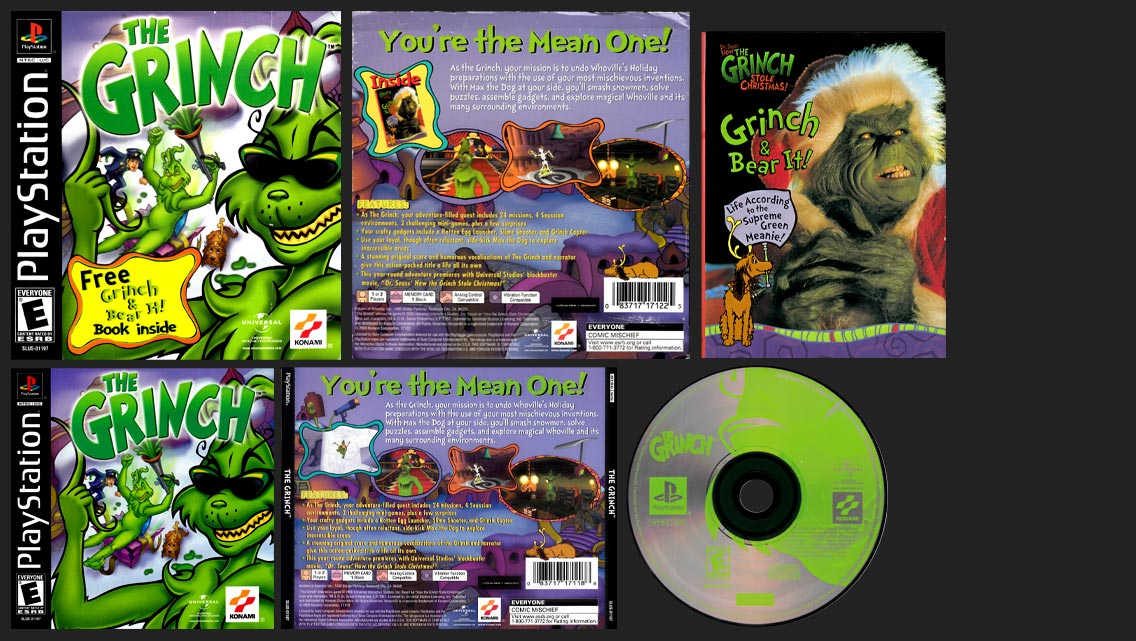 PSX PlayStation The Grinch Limited Edition Book Bundle Variant