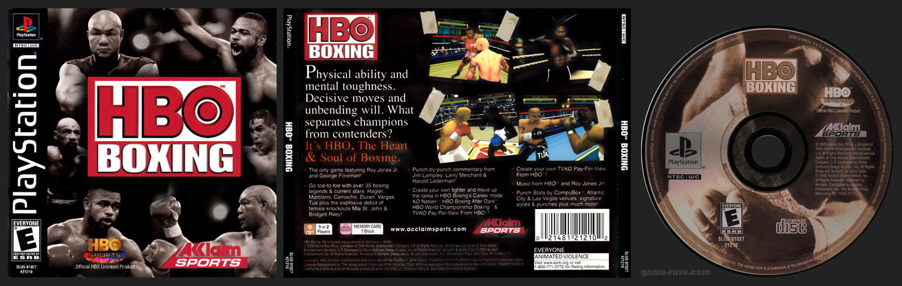 PSX PlayStation HBO Boxing Black Label Retail Release