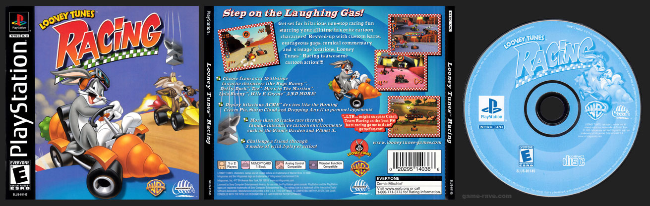 PSX PlayStation Looney Tunes Racing Black Label Retail Release