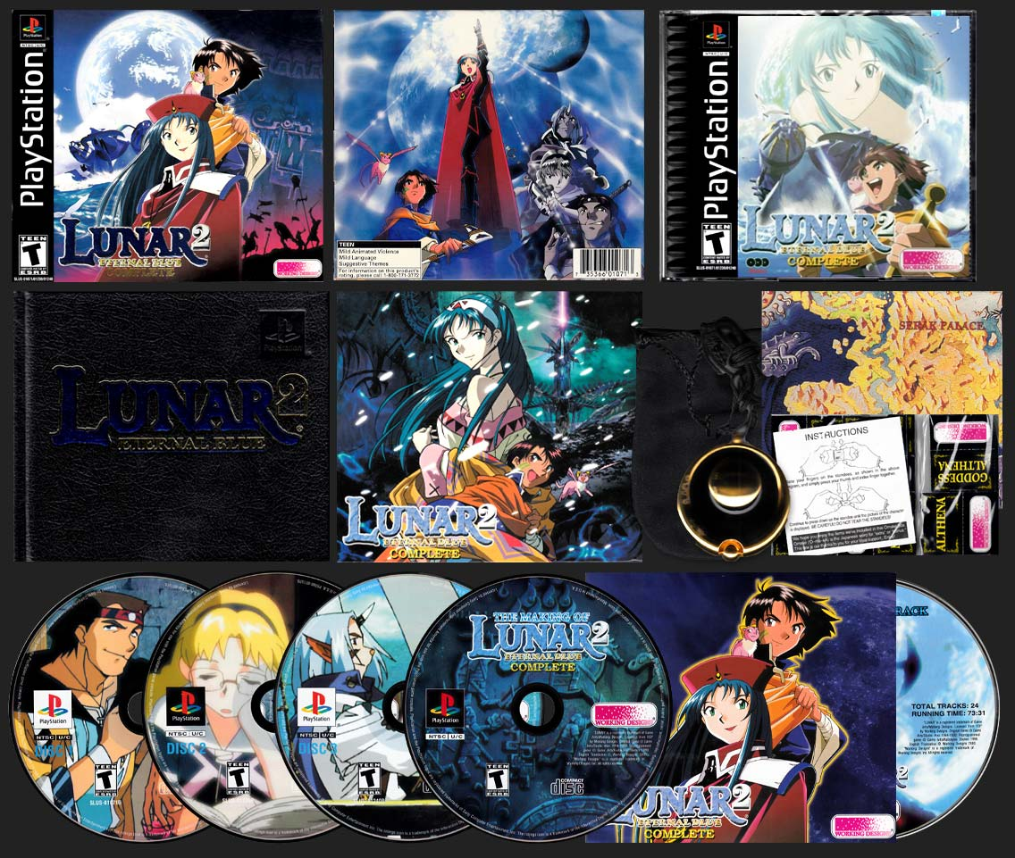 PSX PlayStation Lunar 2: Eternal Blue Collector's Edition Variant B Set
