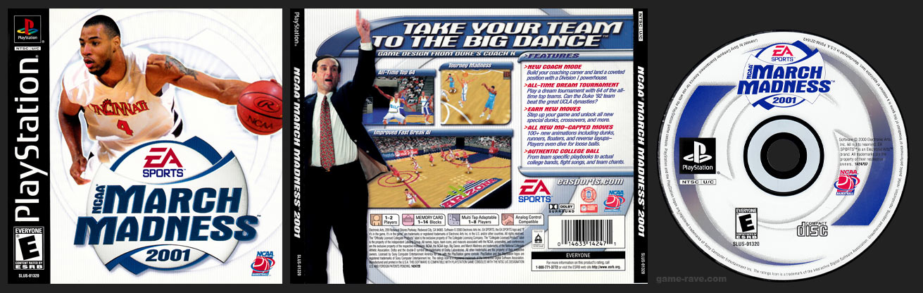 PSX PlayStation NCAA March Madness 2001 Black Label Retail Release