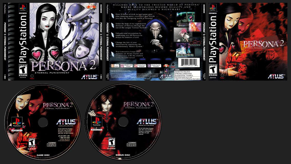 PSX PlayStation Persona 2: Eternal Punishment Black Label Retail Release