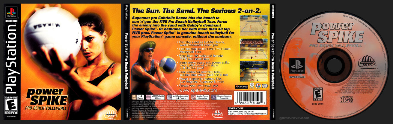 PSX PlayStation Power Spike Pro Beach Volleyball Black Label Retail Release