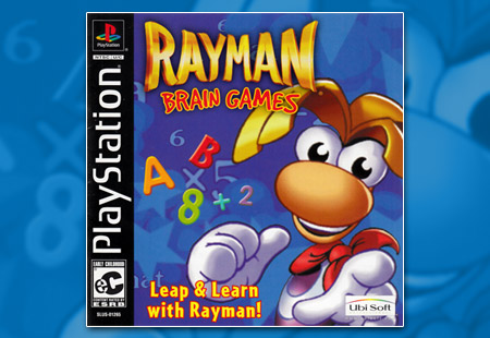 PSX PlayStation Rayman Brain Games