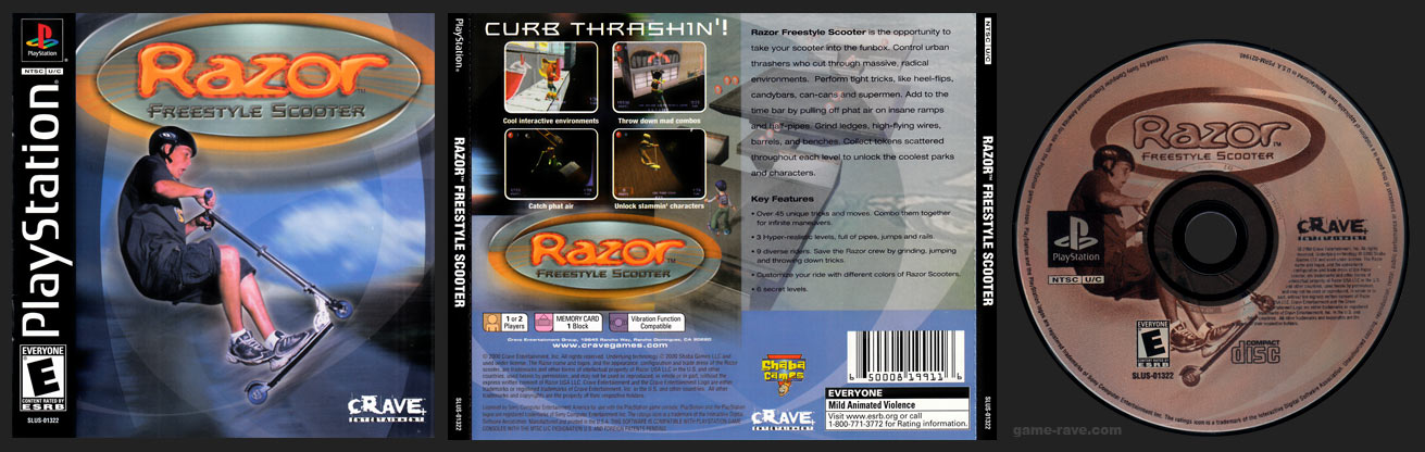 PSX PlayStation Razor Freestyle Scooter Black Label Retail Release