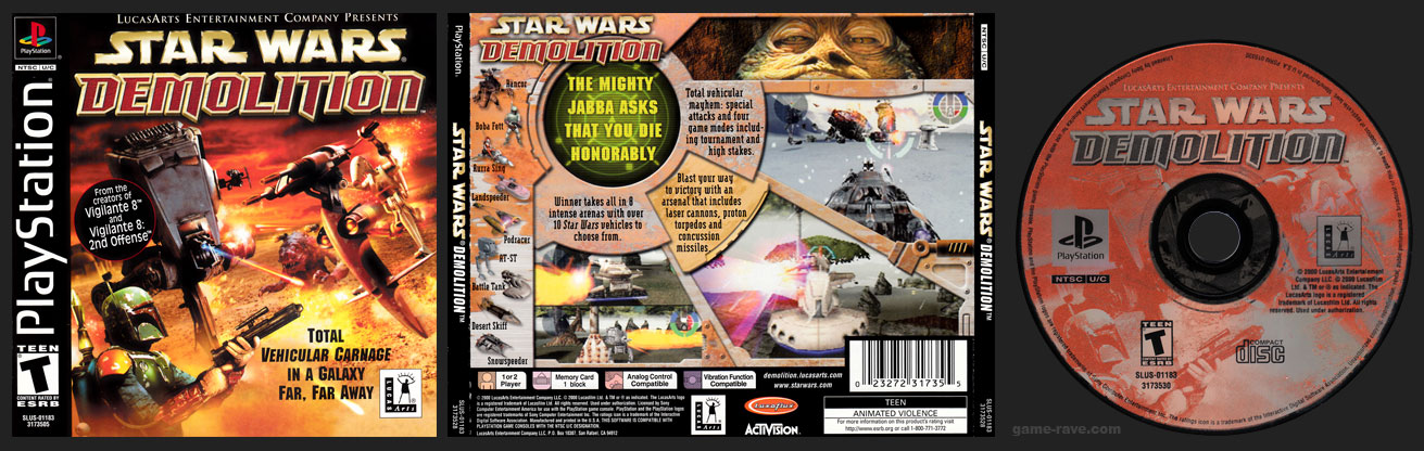 PSX PlayStation Star Wars Demolition