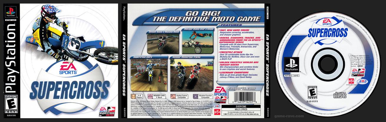 PSX PlayStation Supercross 2001 Black Label Retail Release