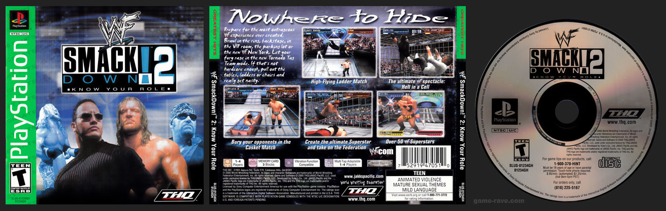 PSX PlayStation WWF Smackdown! 2: Know Your Role! Greatest Hits Release