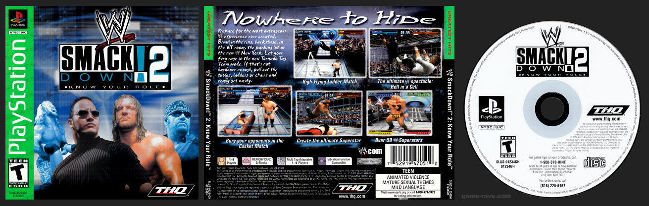PSX PlayStation WWE Smackdown!: Know Your Role Greatest Hits Variant