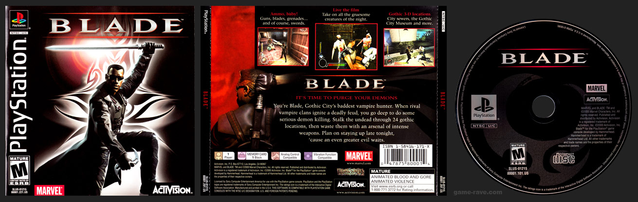 PSX PlayStation Blade Black Label Retail Release