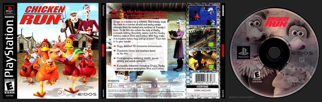 PSX PlayStation Chicken Run Black Label Retail Release