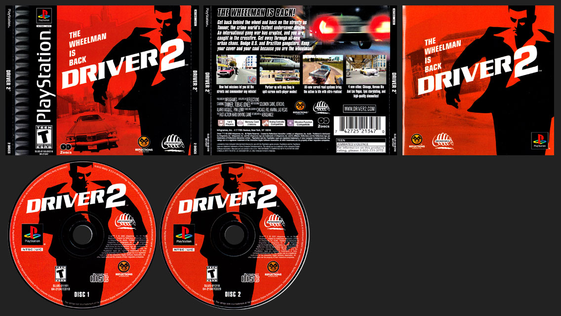 PSX PlayStation Driver 2 Black Label Retail Release Correct Insert
