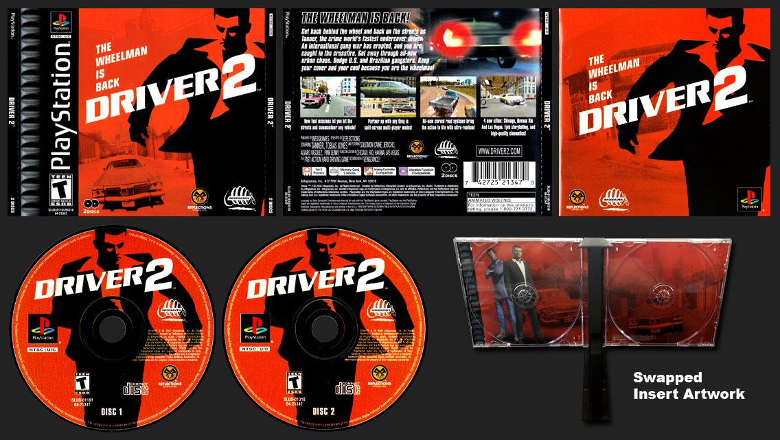 PSX PlayStation Driver 2 Misprint Reversed Inserts