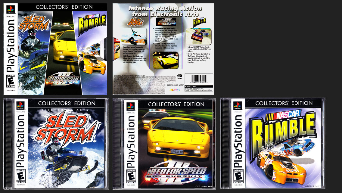 PSX PlayStation Electronic Arts Collector's Edition - Racing White Label Release