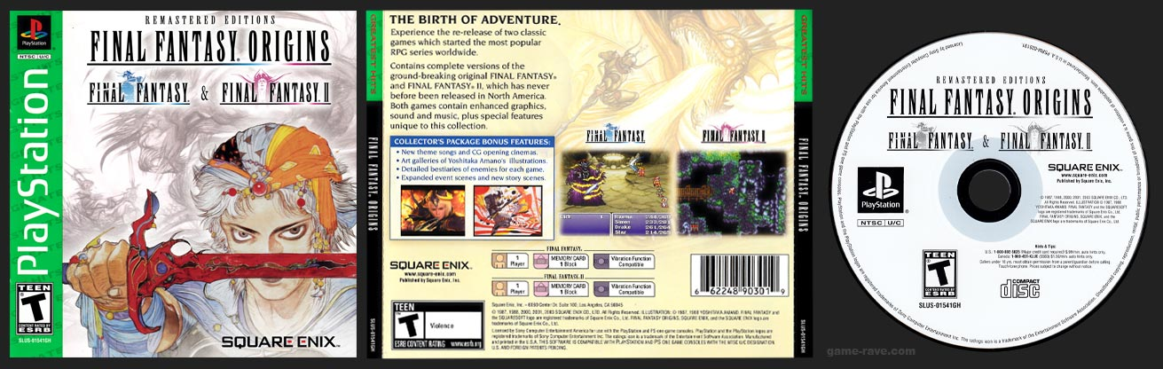 PSX PlayStation Final Fantasy Origins Greatest Hits Green Label Release