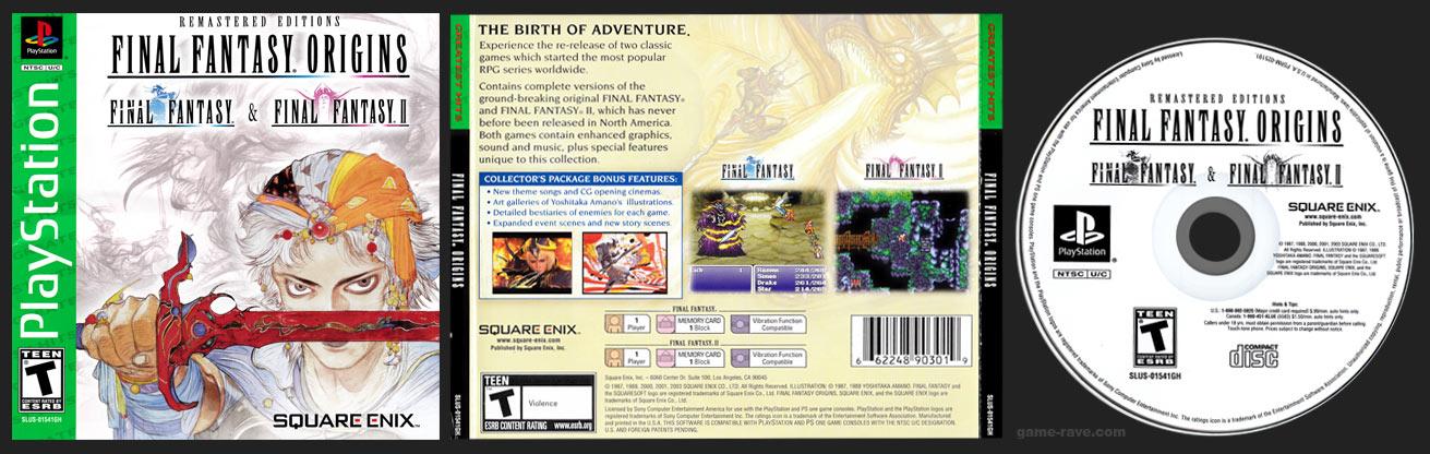 PSX PlayStation Final Fantasy Origins SIlver Bottom Disc Square-Enix Store Release Version 1