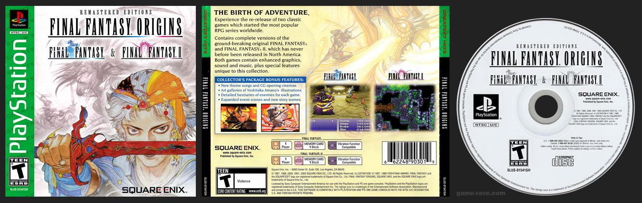 PSX PlaySTation Final Fantasy Origins Square-Enix Store Silver Bottom Release Version 2 with Darker Green