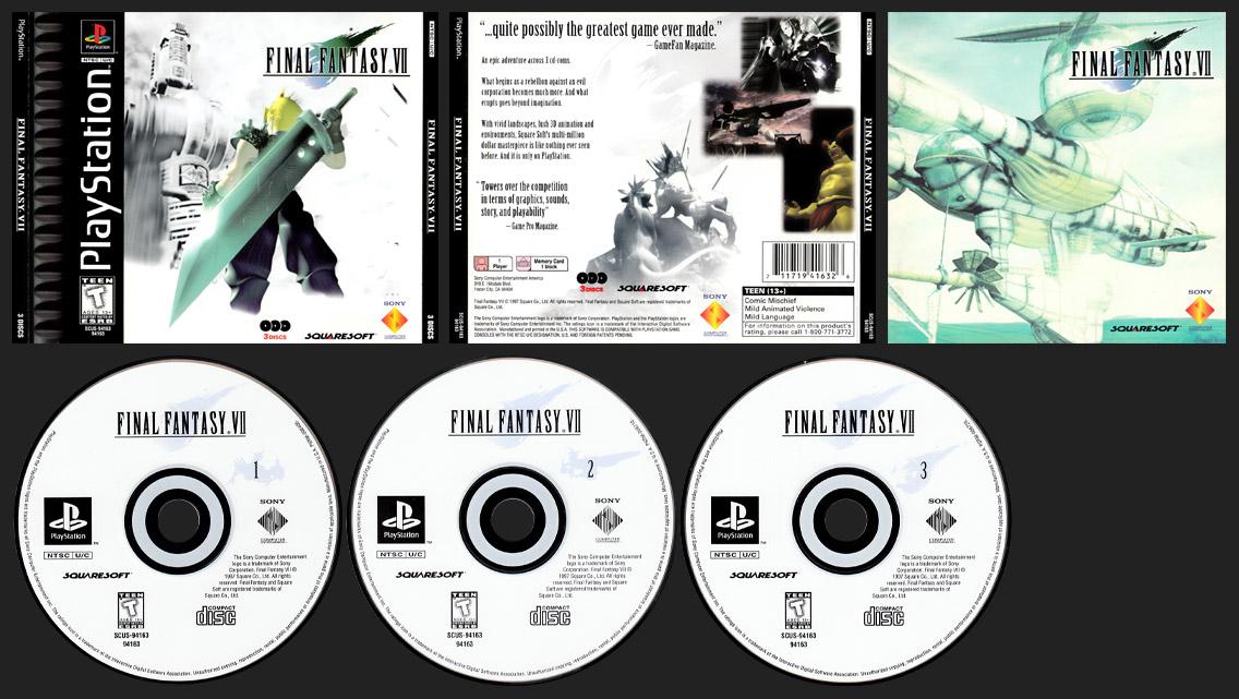 PSX PlayStation Final Fantasy VII Corrected Masterpiece, Correct ESRB Descriptor