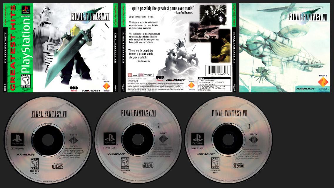 PSX Final Fantasy VII Greatest Hits Release - Regular Version